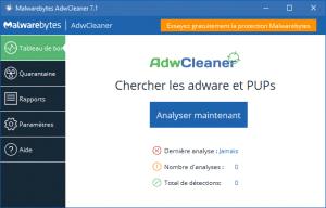 Logiciel en bref : Malwarebytes Adwcleaner 7, nouvelle interface.
